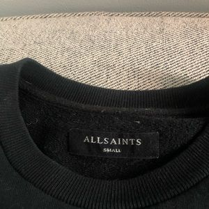 All Saints Black Sweatshirt